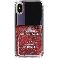[アイフォリア]Amazon公式 正規品 iPhone X対応 Nailpolish Vernis Rouge Red for iPhone X 14979