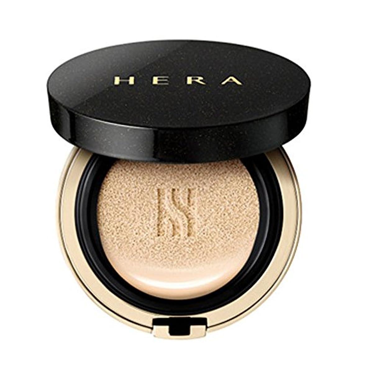 判定ロゴ蒸し器HERA(ヘラ) ブラッククッションファンデーション「21号バニラ」 本体15ml+リフィル15ml(各1個)