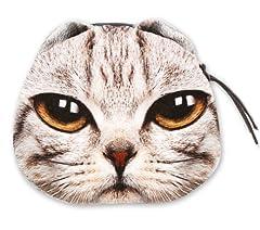 【ミニポーチ】 pouch 猫フェイスポーチ 8Type 小銭入れ ミニファスナーポーチ (g)