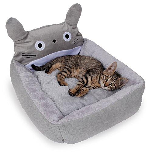 犬猫兼用 トトロのふわふわクッションベッド