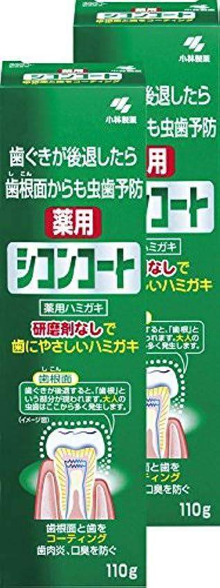 密阻害する禁止する【まとめ買い】シコンコート 虫歯予防 研磨剤無しで歯にやさしい 薬用ハミガキ ミントの香り 110g×2個