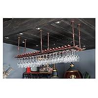 カップホルダー、ワイングラスホルダー、ビーカーホルダー、ぶら下げワイングラスホルダー、バーカウンターバー(ブラックブロンズ) (Color : Bronze, Size : 200cm*30cm)