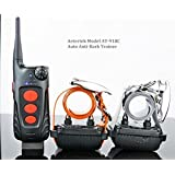 UPGRADED NEW VERSION: AETERTEK AT-918C 2-DOG 600 YARD REMOTE TRAINING SHOCK COLLAR WITH AUTO ANTI-BARK,RECHARGEABLE AND WATERPROOF by Aetertek