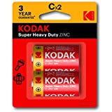 Kodak Super Heavy Duty Size C 2 Pack Zinc Batteries (30383609)