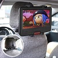 Bedee タブレット 車載 ホルダー ポータブル DVD プレーヤー ホルダー テレビホルダー マウントホルダー 車後部座席用 スタンド 強力固定 360度回転 7-12インチTablet用 ipad ipad mini GalaxyTab Nexus7などにも対応