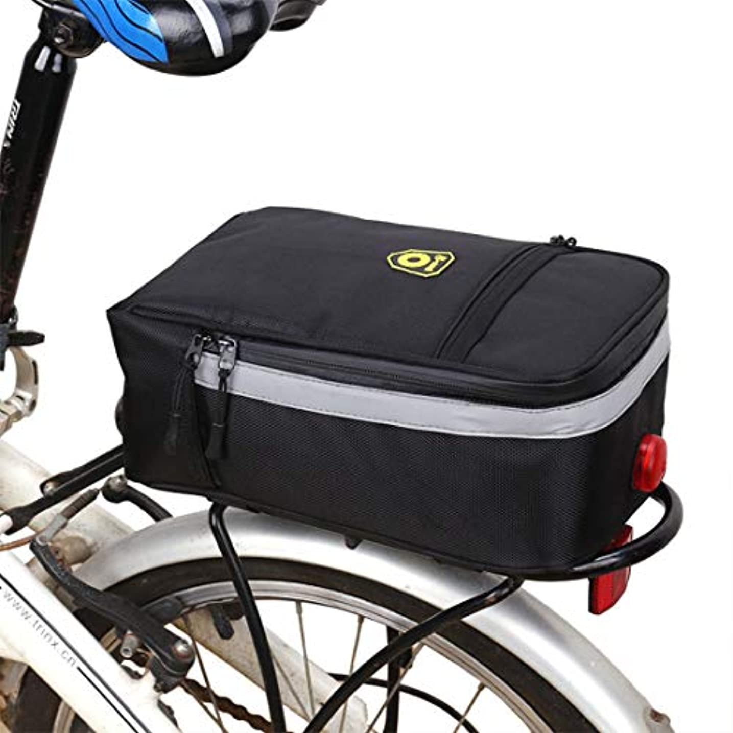 リングバック競う付けるCAFUTY 自転車サドルバッグ防雨MTBロードバイクアクセサリーシートポストバッグテールリアポーチバッグ自転車バッグ (Color : ブラック)