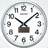SEIKO CLOCK (セイコークロック) 掛け時計 ハイブリッドソーラー 電波 アナログ 銀色メタリックSF242S