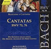 Bach: Cantatas, BWV 75, 76 (Edition Bachakademie Vol 24) /Rilling by Johann Sebastian Bach (1999-10-19)