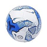 サッカーボール 5号 試合球 検定球 軽量タイプ 防水 ジュニア ボールポンプ付き (ブルー)