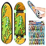 "Stress Relievers Fidget Rollers - 24pcs 3.94"" Mini Skateboard Teach Deck Finger Board Luminous Bearing Wheel"