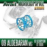 【Avail/アベイル】 シマノ 09アルデバランMg・10スコーピオンXT1000 スプール Microcast Spool 【ALD0918TR】 スカイブルー