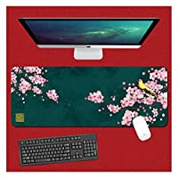 Zenghh 中国スタイルのイラストオフィスデスクマット表パッドゲーミングマウスマット、ノートパソコンのデスクマット、防水デスク手書きパッドのためにオフィスや家庭マウスパッド (Color : G, サイズ : 900X400mm)