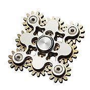 JP-KIBOUハンドスピナー 9個の歯車が連動して回転する 指スピナー 純銅+ステンレス ((ゴー...