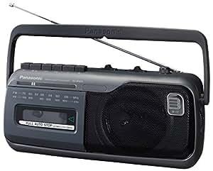 パナソニック ラジオカセット グレー RX-M40A-H