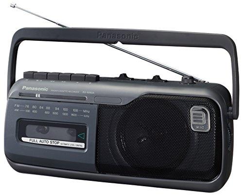 パナソニック ラジオカセットレコーダー AM/FM グレー RX-M40A-H