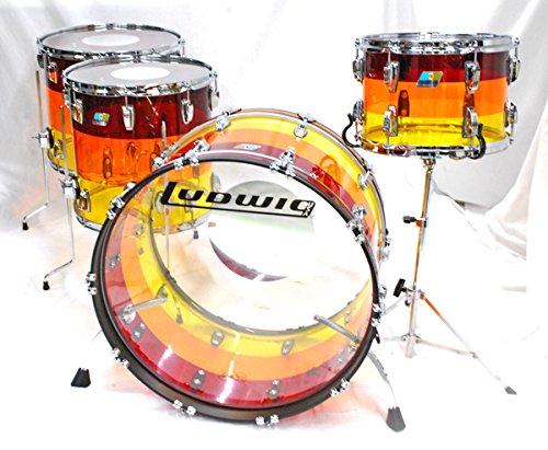Ludwig L9244LxTSWC LIMITED EDITION TEQULIA SUNRISE Vistalite 24BD 4pieces Kit ラディック ドラムセット