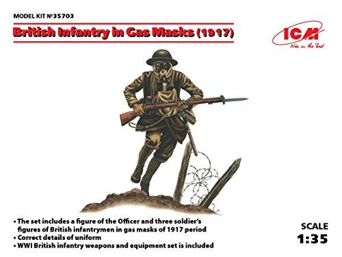 1/35 イギリス歩兵 ガスマスク装備  1917
