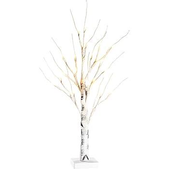 Zanflare ツリーライト クリスマスライト おしゃれ クリスマス飾り 白樺 電飾 電池式 IP44防水性能 24LED 60cm