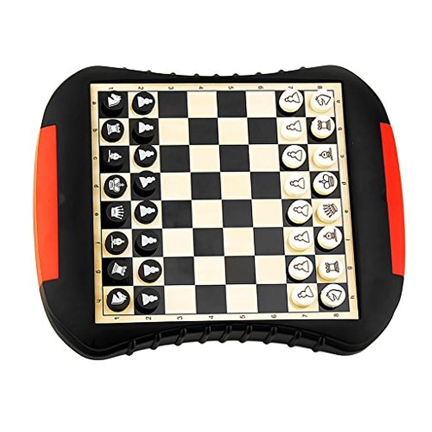 速い軽量腹痛T TOOYFUL 国際チェス チェス盤 磁気 ボードゲーム 引き出し付 知育玩具 軽量 持ち運びに便利