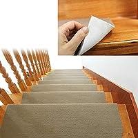 階段 トレッド ブルノーズ カーペット ノンスリップ インドア 耐久性マット ベージュ
