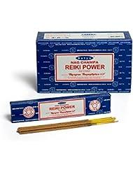 Satya Nag Champa Reiki Power お香スティック Agarbatti 180グラムボックス | 15グラム入り12パック 箱入り | 輸出品質