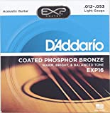 D'Addario ダダリオ アコースティックギターコーティング弦  フォスファーブロンズ Light .012-.053 EXP16 [並行輸入品]