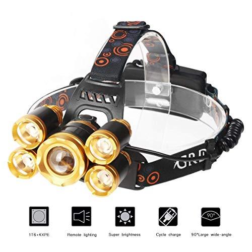 LEDヘッドライト 充電式 ヘッドライト ヘッドランプ 超高輝度 10000ルーメン ズーム機能付き...