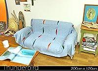 RUG&PIECE メキシコ製 サンダーバード メキシカンラグ200cm×120cm (rug-6273)