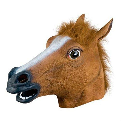 【andyam】ハロウィーン クリスマス アニマル マスク 馬 狼 お面 仮面 コスプレ おもしろ 仮装 動物マスク 狼手袋(馬マスク)