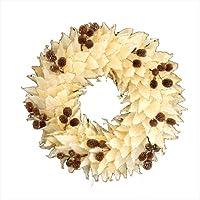 彩か【SAIKA】クリスマス リース Panga Leaves & seeds Wreath M  PXD-129