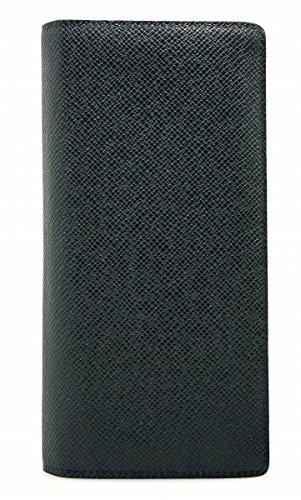 [ルイ ヴィトン] LOUIS VUITTON タイガ ポルトフォイユ ブラザ 2つ折長財布 レザー ボレアル ネイビー M32654