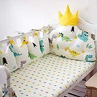 幼児 ベッドレール, 厚く 反衝突 通気性 ベッドガード 100% コットン 洗える 赤ちゃん 寝具 4 作品 安全バンパー ガード セット-D 115x65cm