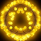 Tian イルミネーションライトLED ジュエリーライト電飾、電池式 5M50電球LED 防水 防塵 ストリングライト、フェアリーライト クリスマス 結婚式 パーティー バレンタインデー 正月 キャンプ 照明装飾 、室内 屋外ガーデンライト 可愛い ライト 飾り (ウォームホワイト)