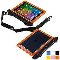 Cooper Cases(TM) Voda Acer Iconia Tab B1-710 / B1-720 / B1-721 / B1-A71タブレット防水スリーブ (オレンジ) (軽量デザイン, タッチセンシティブウィンドウ, 水密シール, 調節可能なショルダーストラップ)