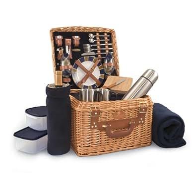 【ピクニックかごバッグ】ブランケット・お皿・マグカップなど アウトドアバスケット[並行輸入品]