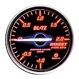 BLITZ(ブリッツ) RACING METER SD(レーシングメーターSD) 丸型アナログメーター φ60 BOOST METER RED 19581