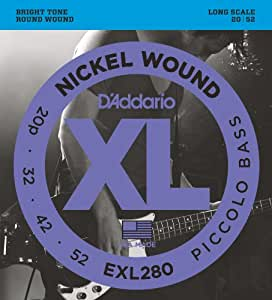 D'Addario ダダリオ ベース弦 ニッケル Piccolo .020-.052 EXL280 【国内正規品】
