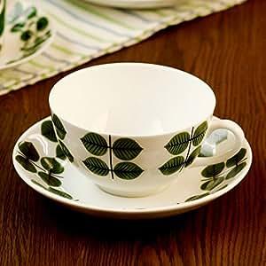 Gustavsberg Bersa ベルサ Tea Cup & Saucers ティーカップ&ソーサー Green/White グリーン/ホワイト KD-GUS-GB-TCS 洋食 食器 紅茶
