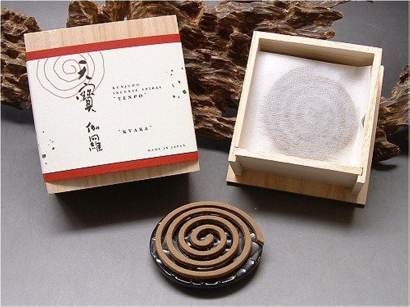 玉ねぎかける貞薫寿堂のお香 天寶 伽羅 渦巻型
