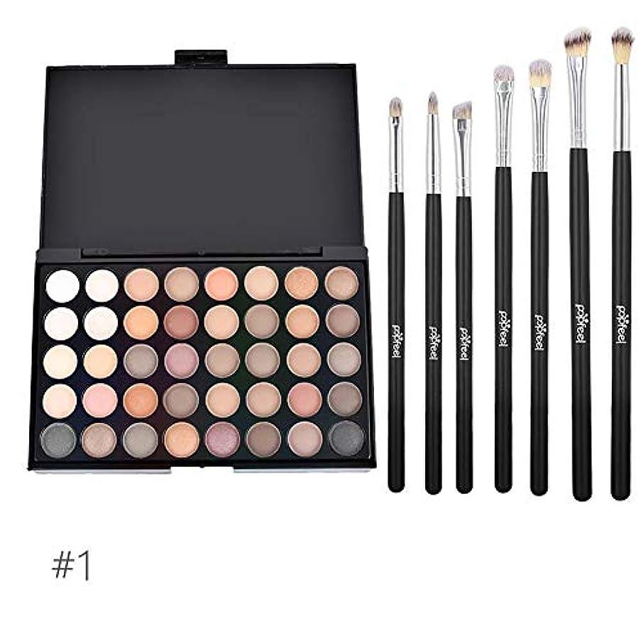 慣習オフセット話アイシャドウトレイ 40色 化粧ブラシセット 化粧ブラシ 化粧筆 6本セット メイクブラシ