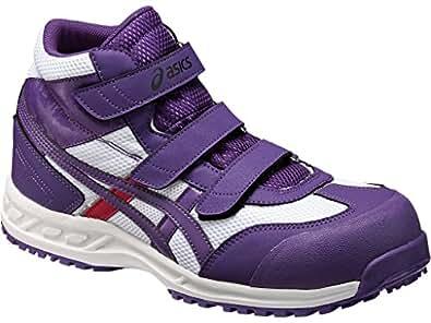 【ウィンジョブ 42S】 アシックス[ASICS] 作業用靴 【FIS42S】 カラー:紫・サイズ:22.5