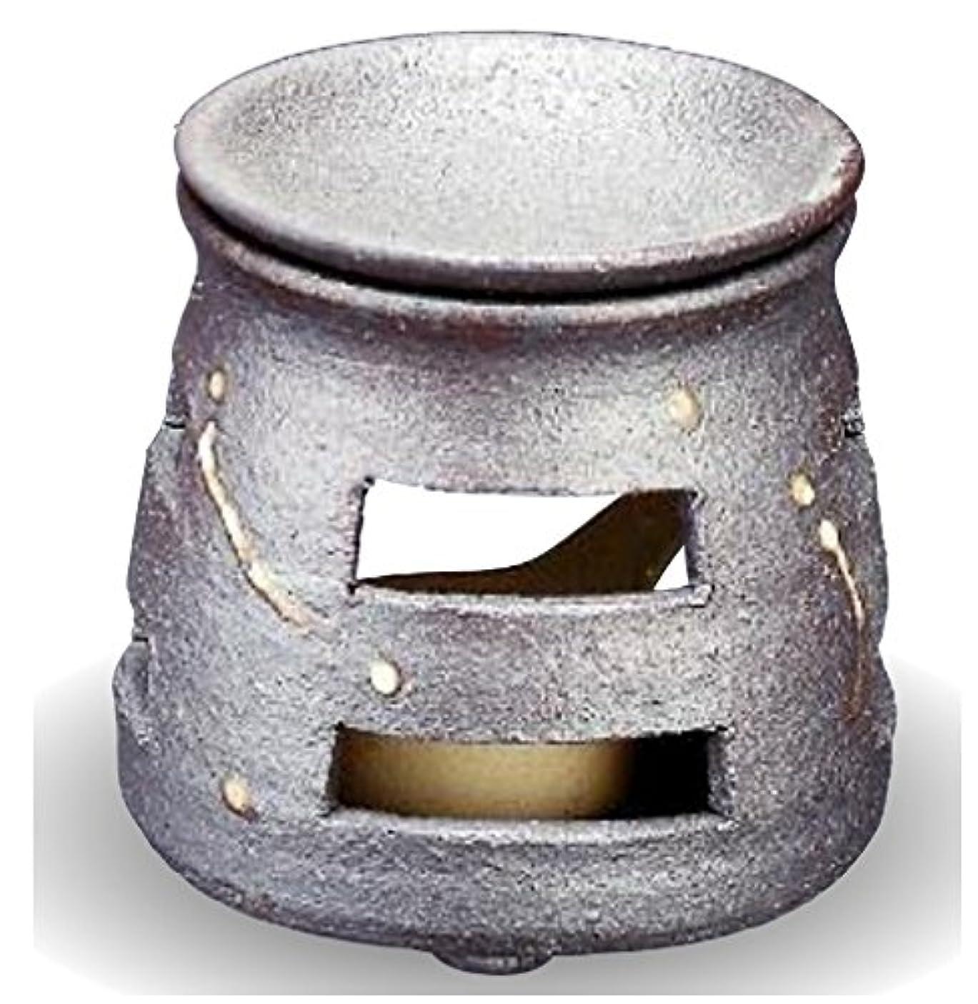 木一握り尽きる常滑焼 茶香炉(アロマポット)径9×高さ10cm