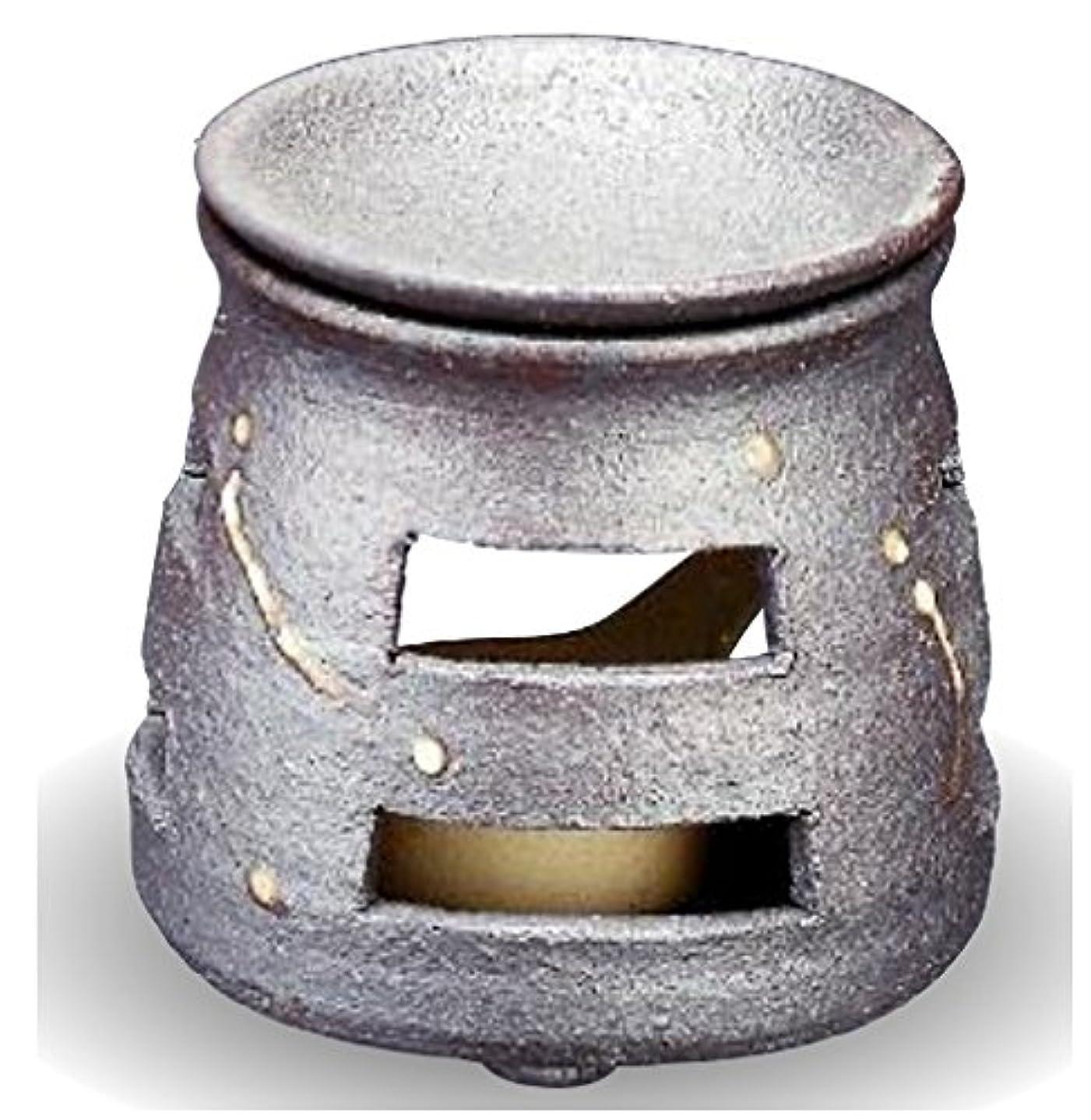 長老反発高齢者常滑焼 茶香炉(アロマポット)径9×高さ10cm