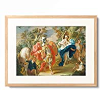 Anton Kern 「Rinaldo and Armida in the Enchanted Forest. About 1730/38」 額装アート作品