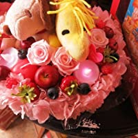 スヌーピー ウッドストック  ケーキ フラワーギフト プリザーブドフラワー スヌーピーストラップ 7号サイズ ケーキ プリザーブドフラワー スヌーピー ◆誕生日プレゼント・記念日の贈り物におすすめのフラワーギフト プレゼント先へのお届け 配送日指定も可能です