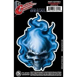 Planet Waves by D'Addario プラネットウェーブス ギタータトゥ GT77011 Blue Flame Skull 【国内正規品】