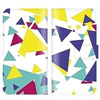 手帳型ケース 全機種対応 【 PANTONE6 200SH パントーン6 200SH専用】 三角 パターン ポップ テクノ シンプル ブック型 二つ折り レザー 手帳カバー 手帳タイプ ダイアリー スマホケース スマートフォン
