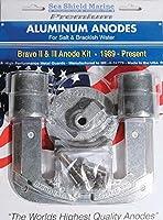 マークルーザーBravo 2& 3陽極キット–アルミニウム( 1989–2003-b3) ( 1989-present-b2)