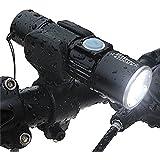 Youhin 懐中電灯 自転車ヘッドライト 米国製CREE LED ズーム機能付き 自転車ホルダー付き 生活防水