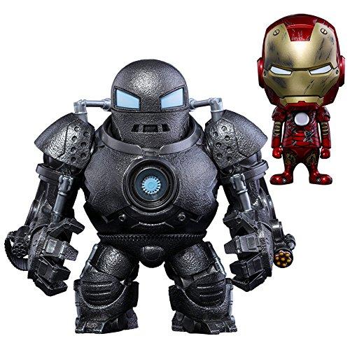 コスベイビー アイアンマン [サイズS] アイアンモンガー&アイアンマン・マーク3(2体セット) 高さ約10~15センチ プラスチック製 塗装済み完成品ミニフィギュアセット